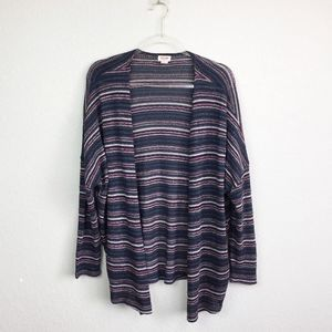 • MOSSIMO • Striped Loose Knit Cardigan Sz S